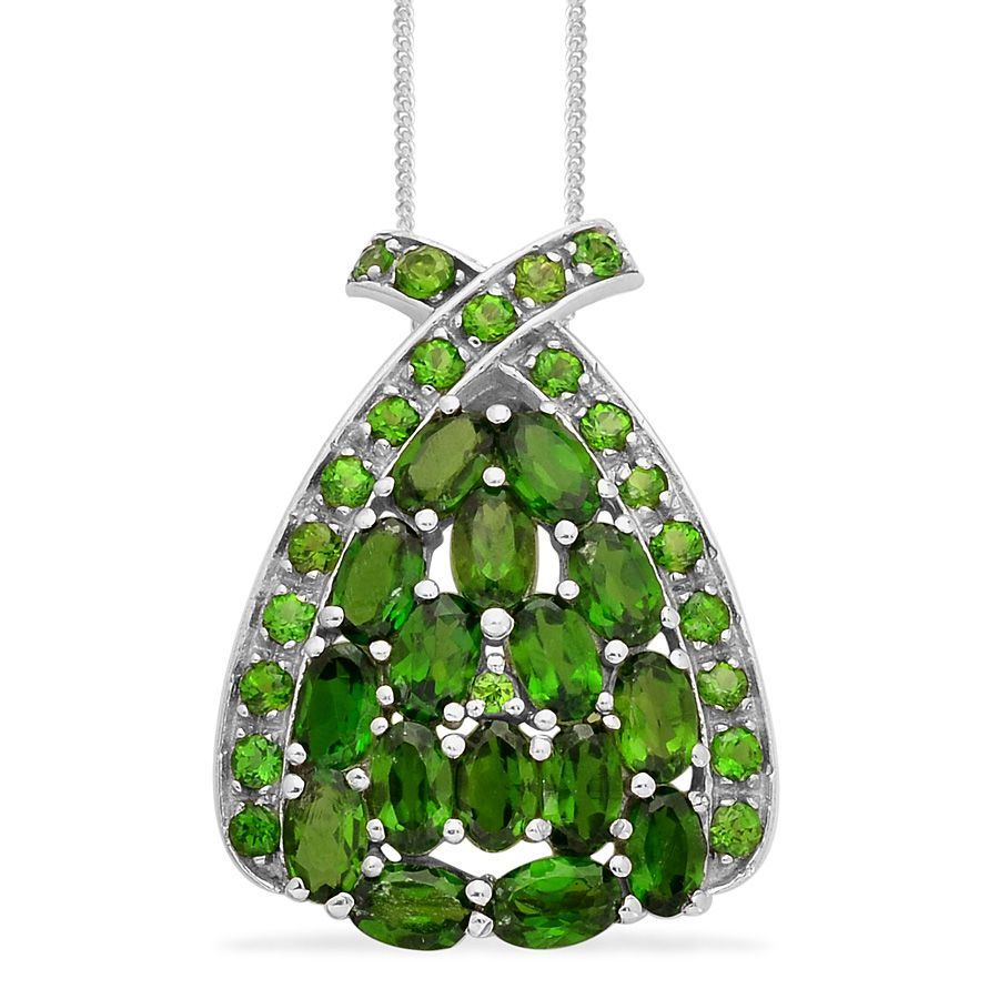 Liquidation channel russian diopside pendant with chain in platinum liquidation channel russian diopside pendant with chain in platinum overlay sterling silver nickel free aloadofball Images