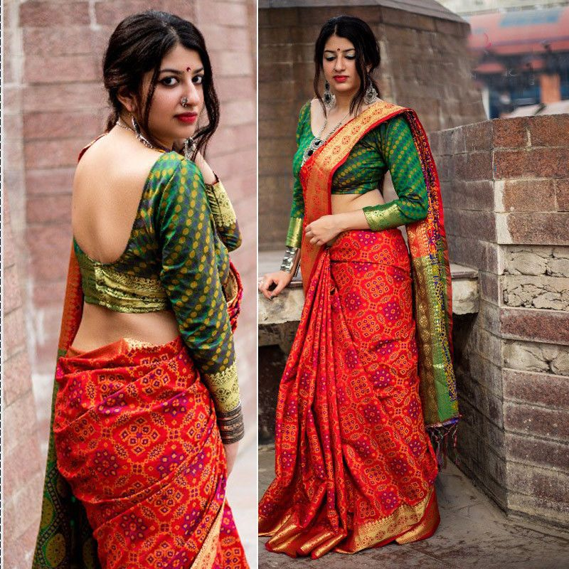 Pakistani Bollywood Indian designer saree colorful sari fancy traditional