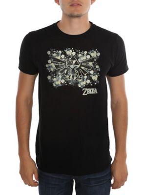 ccba47d97 The Legend Of Zelda Floral Triforce T-Shirt | The Nintendo board ...