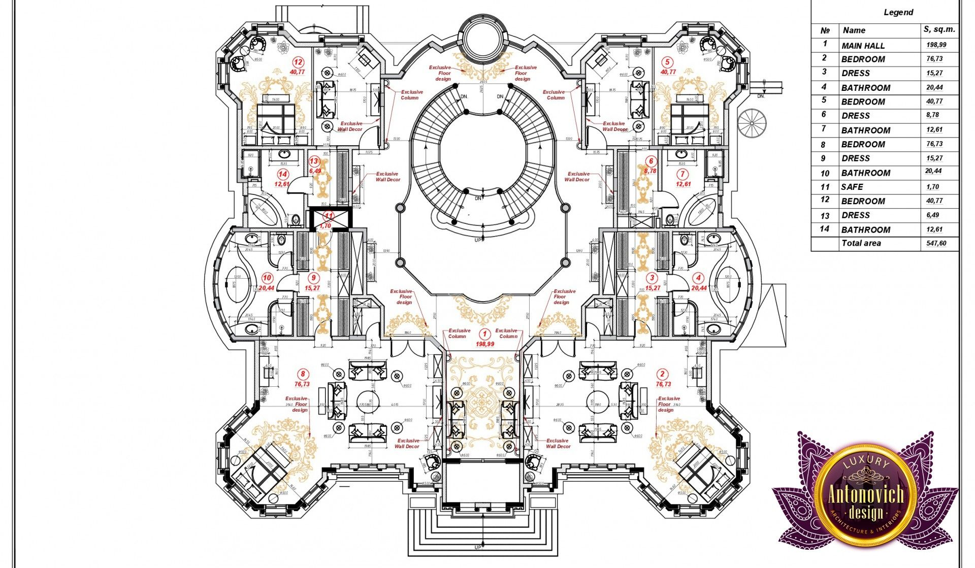 Luxury Villa Floor Plan In Uae House Floor Plans Luxury Floor Plans Mansion Floor Plan