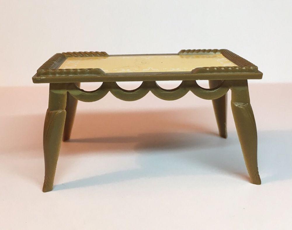 Renwal Irene Coffee Table Vintage Dollhouse Furniture Ideal Plastic 1:16 |  EBay