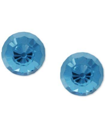 d64f07aa6 Children's Swarovski Crystal Ball Stud Earrings in 14k Gold - Blue ...
