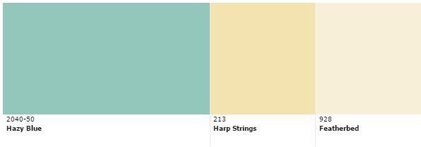 Benjamin Moore Color Scheme For Hazy Blue 2040 50