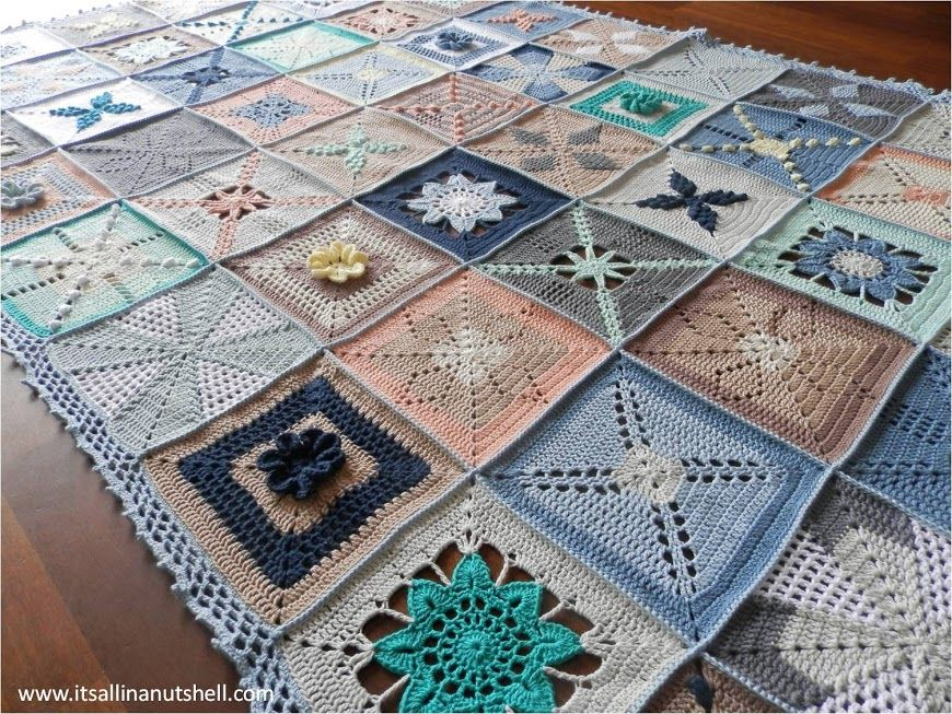Scheepjes Cal 2014 Granny Square Blanket Beautiful Crochet 3