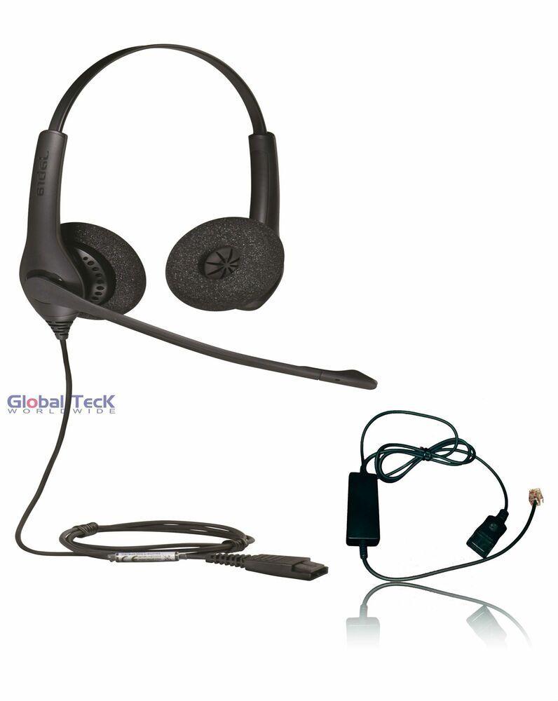 Jabra Biz 1525 Headset Bundle   Headset Telephone Interface