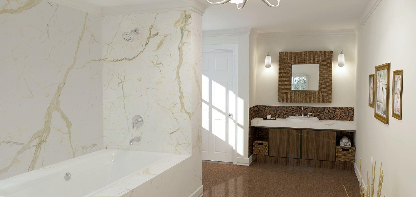 This Calacatta Bathroom Has Exquisite And Luxurious