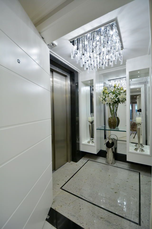 Hall do elevador u2013 veja modelos lindos e dicas de como decorar!  se essa casa fosse minha  -> Como Decorar Hall De Entrada De Elevador