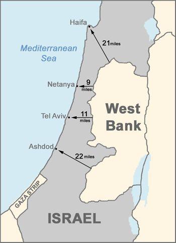 Map - Israel\'s Borders (1949-1967) - Israeli-Palestinian Conflict ...
