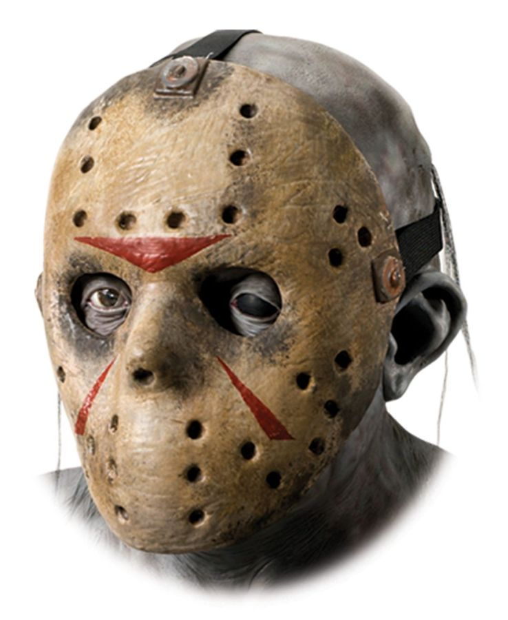 Jason Voorhees 3//4 Vinyl Mask Friday 13th Dress Up Halloween Costume Accessory