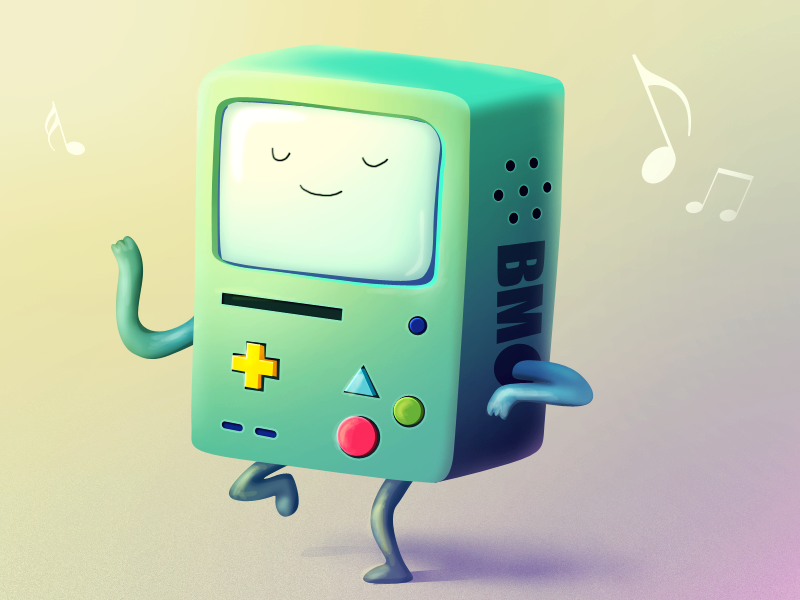 Beemo Adventure Time Fan Art With Psd File By Vasili Tkach Adventure Time Adventure Time Anime Adventure Time Art