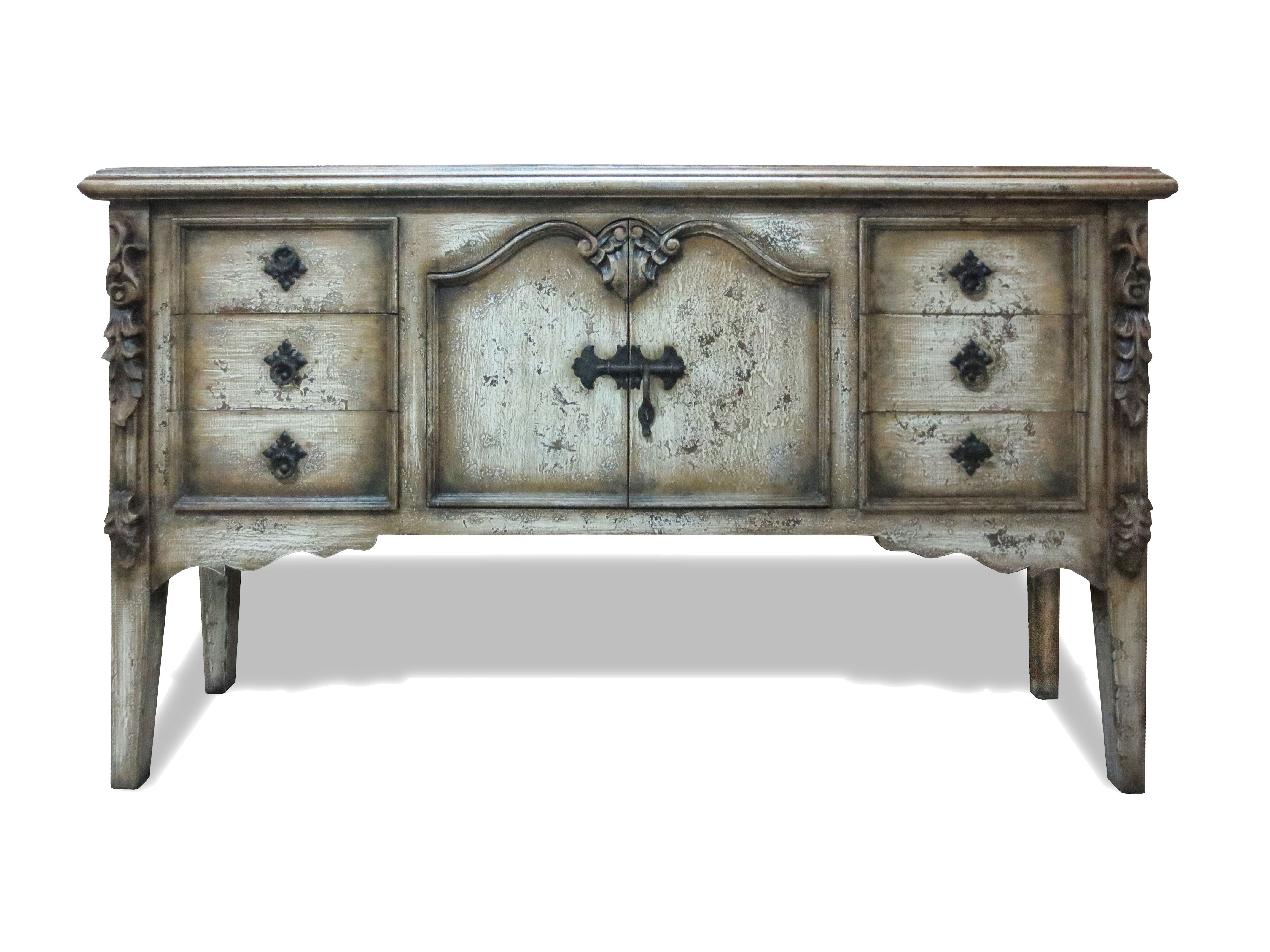 It's hard not to fall in love with these alluring distressed Tuscan furnishing and decor pieces!  If you're going to do something, do it well!  - Koenig Collection