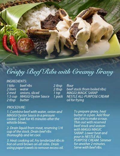 Kainan Na Crispy Beef Ribs With Creamy Gravy Crispy Beef Creamy Recipes Pancit Recipe