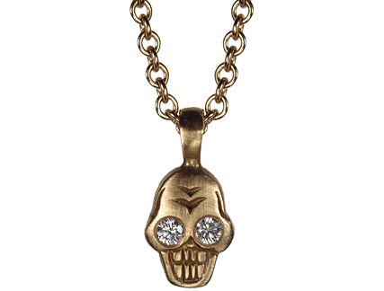 Me And Ro Me 10k Gold Tiny Skull Pendant With Diamond Eyes Diamond Eyes Skull Pendant Jewelry Inspiration