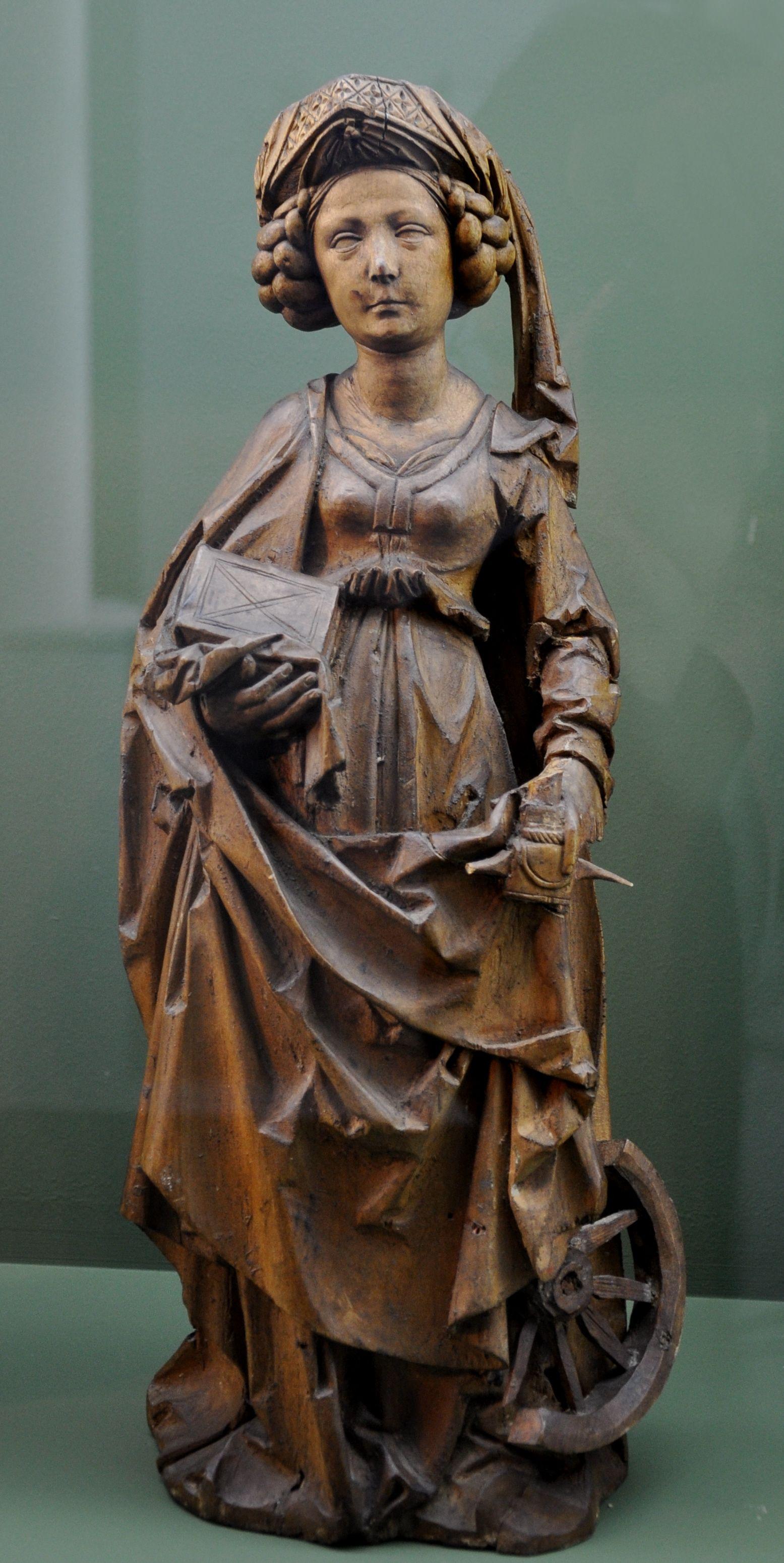 RIEMENSCHNEIDER Tilman - German (c.1460 - 1531) - Hl.Katharina_erstes Viertel 16. Jahrhundert