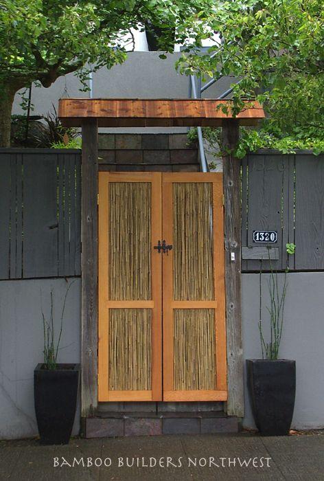 Bamboo Garden Gates Garden Gates สวนญ ป น ผน งไม บ าน