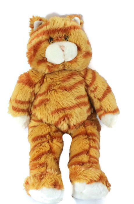 Build A Bear Orange Cat Tiger Striped 18 Long Plush Stuffed Animal