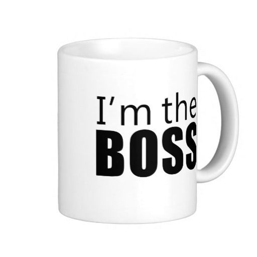 Im the Boss Coffee Mug | Zazzle.com #bosscoffee cool design #bosscoffee