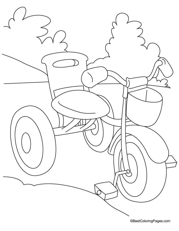 Kids tricycle coloring page   Download Free Kids tricycle coloring ...