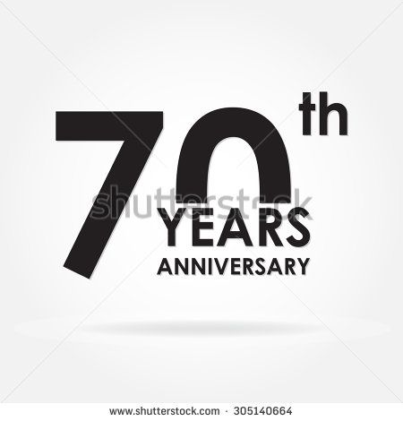 70 years anniversary sign or emblem Template for celebration and - congratulation templates