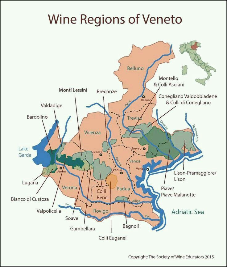 Veneto wine map Things I like Pinterest Wine Food and Recipes