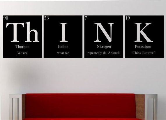 Thinkwith quote periodic table elements vinyl wall decal sticker thinkwith quote periodic table elements vinyl wall decal sticker art decor bedroom design mural science geek nerd educational aristotle periodic table urtaz Image collections