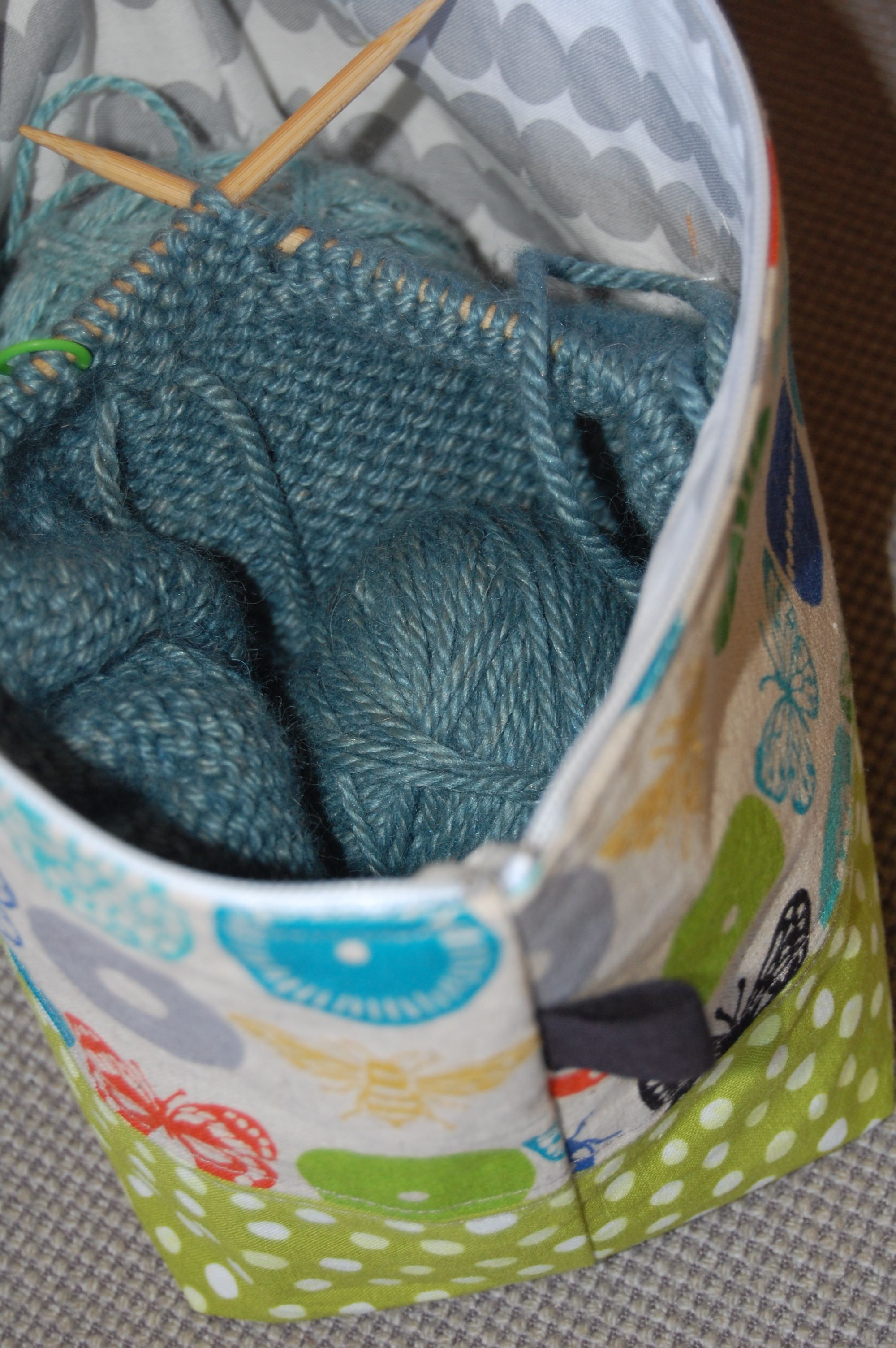 Elegant Photo of Knitting Bag Sewing Pattern Projects ...