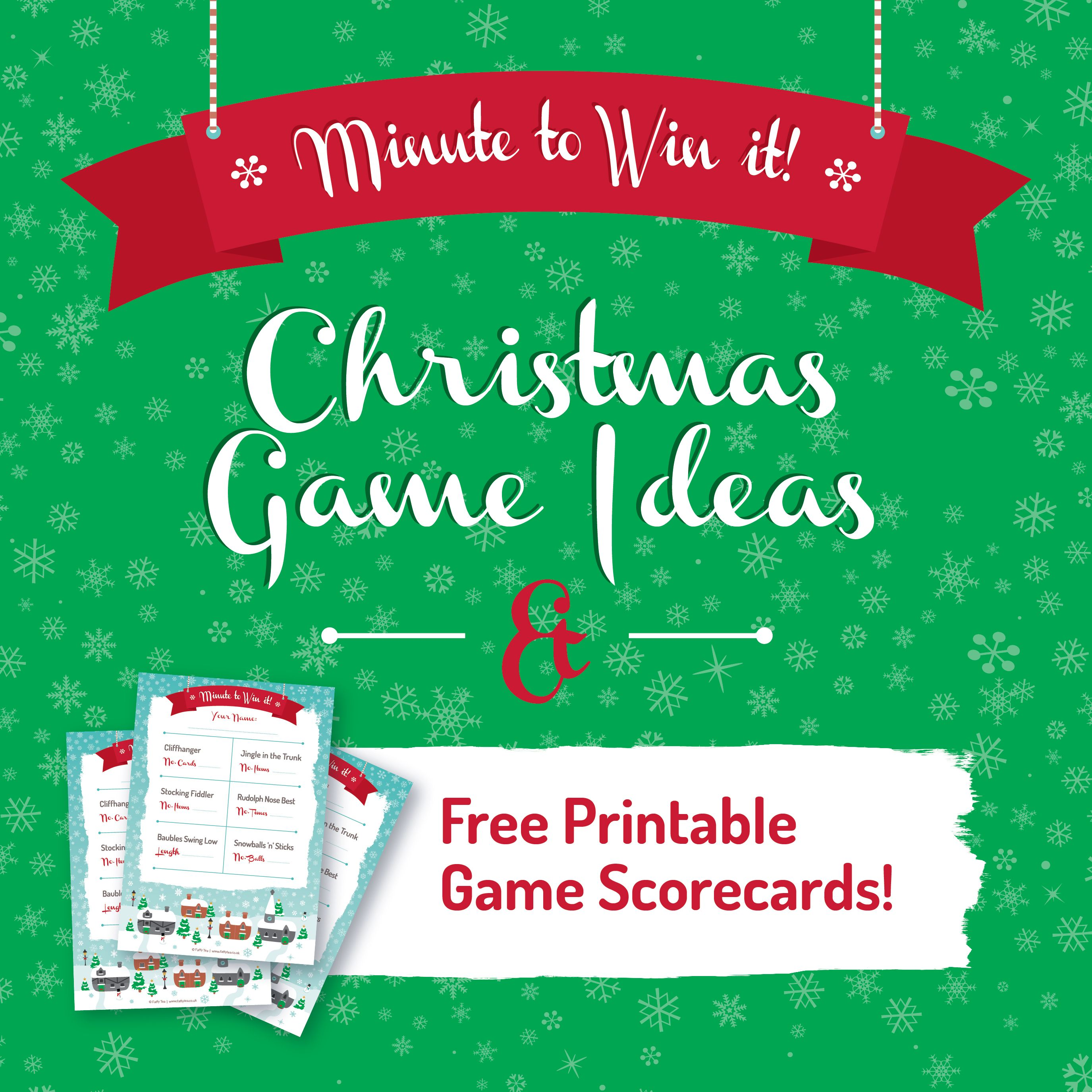 Christmas Family Party Games: Minute To Win It Group Games Ideas