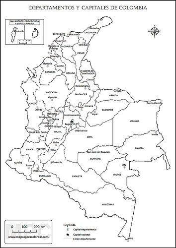 Mapas De Colombia Para Niños Imágenes Para Imprimir Y