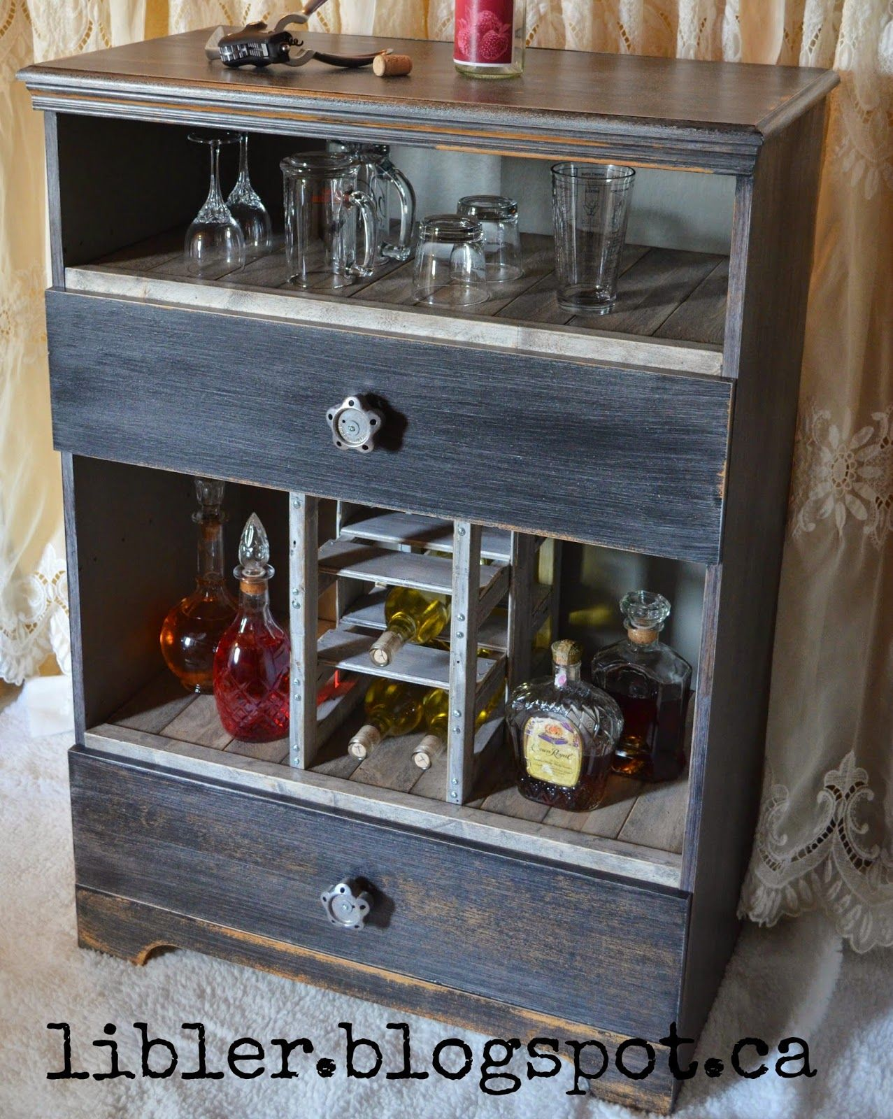 Macver Liquor Cabinet Made Out Of An Old Dresser