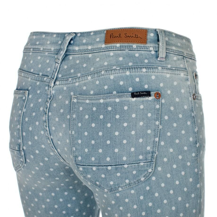 Paul Smith Jeans | Light Wash Polka Dot Jeans