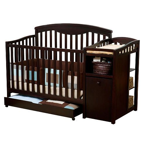 Delta Shelby Classic Crib And Changer - Espresso\