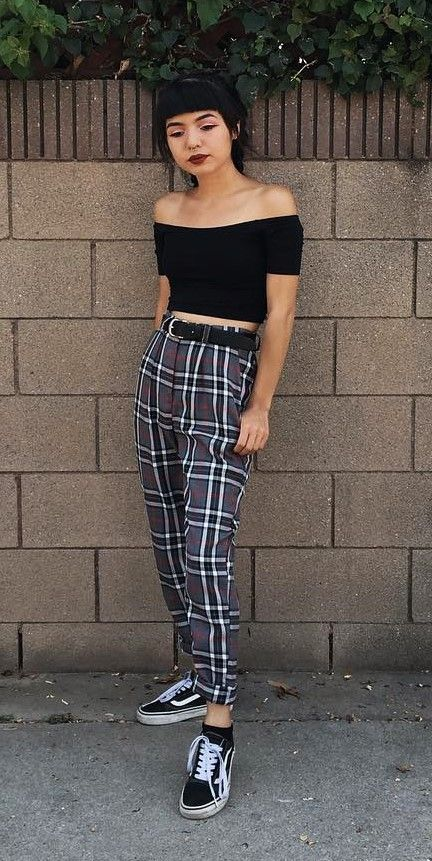 29 cool ways to wear plaid pants  clothes fashion