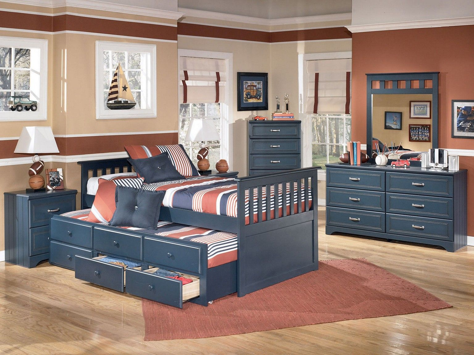 Bed Frame With Drawers Teen Boy Bedroom Ideas Lampshade On