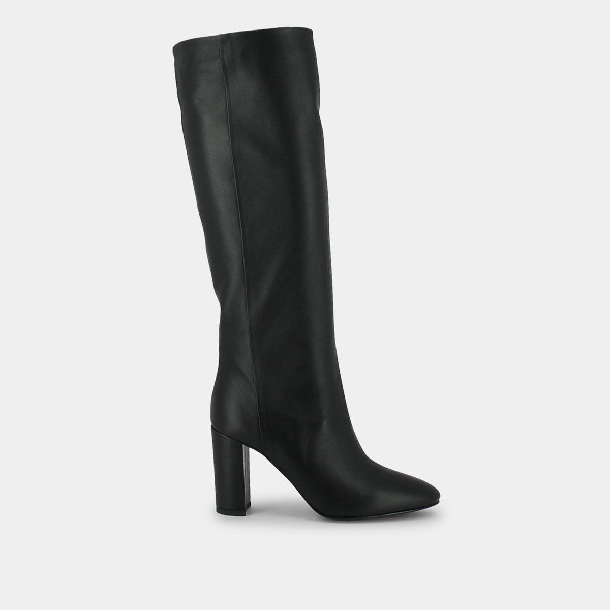 Bottes hautes Femme en velours noir | Jonak