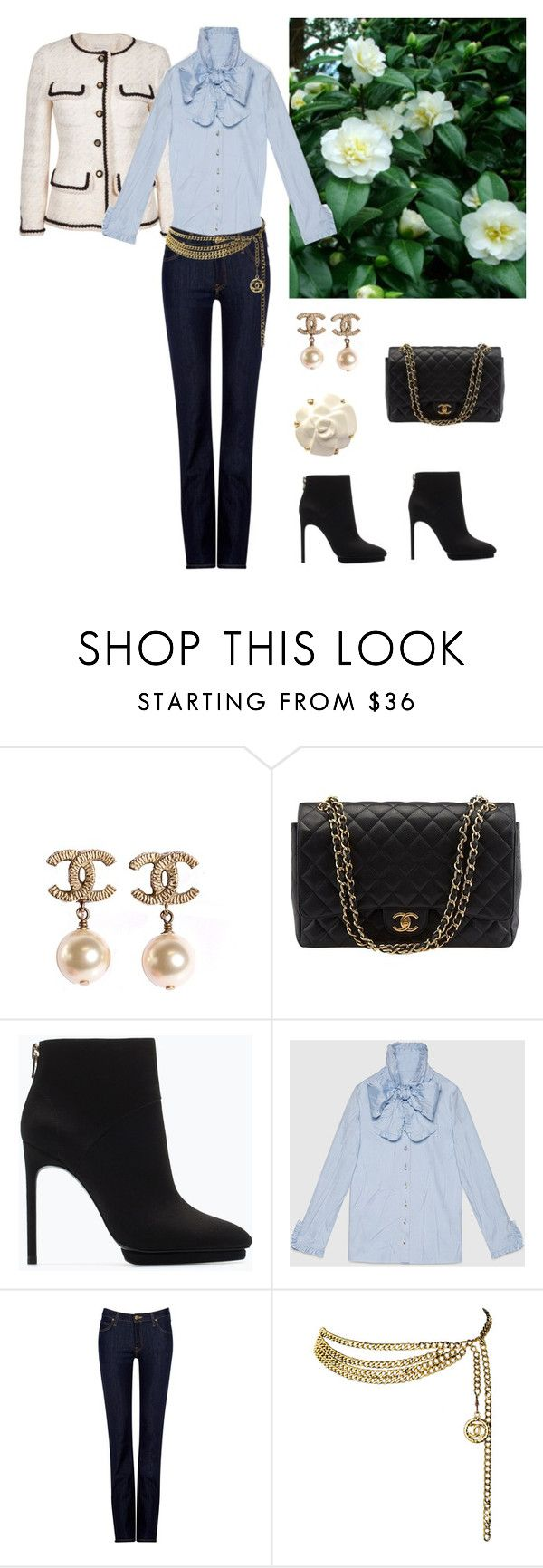"""""""I don't like Chanel...I love it!"""" by dezaval ❤ liked on Polyvore featuring Chanel, Zara, Gucci and Lee"""
