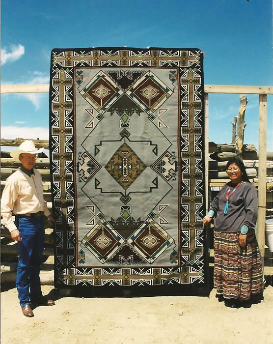 Masterpiece Navajo Weaving By Linda Nez Native American