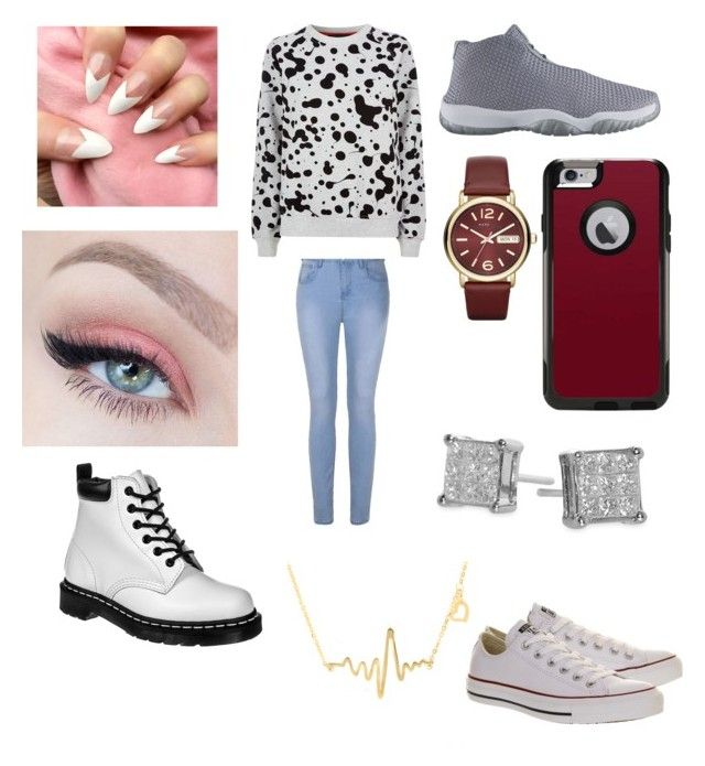 """""""Sry I haven't made sets for a little bit"""" by thrillqueen ❤ liked on Polyvore featuring Ally Fashion, Marc by Marc Jacobs, OtterBox, Dr. Martens, Bony Levy, Emitations and Converse"""