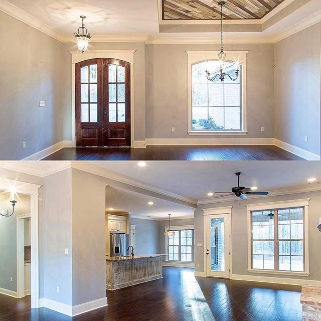 Open floor plan and kitchen in Architectural Designs French Country – French Country House Plans Open Floor Plan