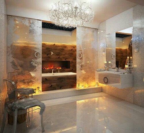 bright #luxury #bathroom #lujo #baño #lujoso BATHROOM   BAÑOS - baos lujosos