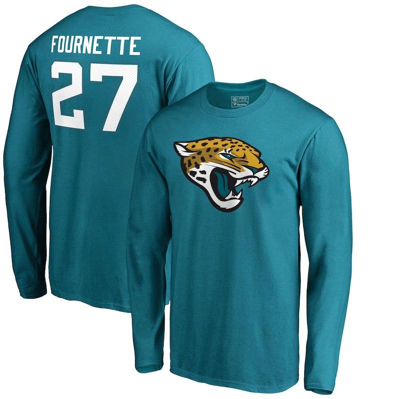 Leonard Fournette Jacksonville Jaguars Nfl Pro Line By Fanatics Branded Player Icon Long Sleeve T Shirt Teal Jacksonville Jaguars T Shirt Jalen Ramsey