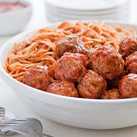 Classic Spaghetti and Meatballs for a Crowd Recipe America s