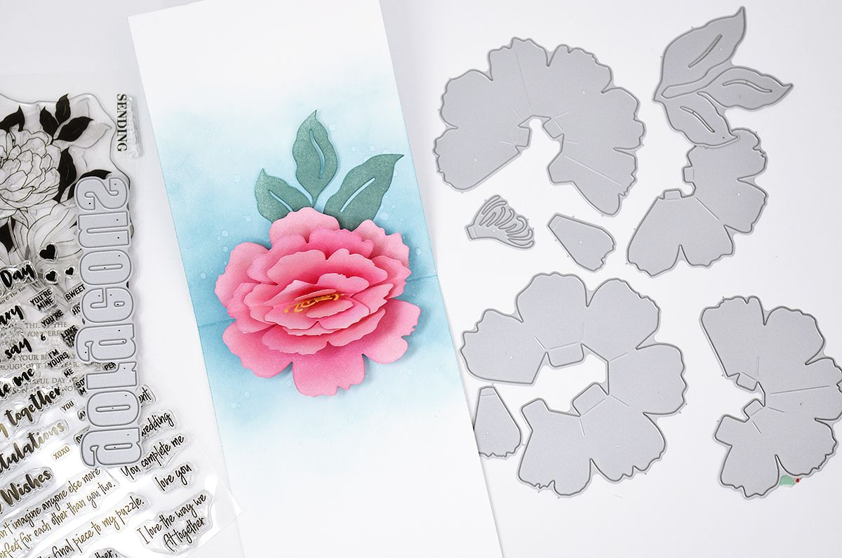 A Beautiful Pop Up Peony The Ton In 2020 Pop Up Cards Pop Up Beautiful