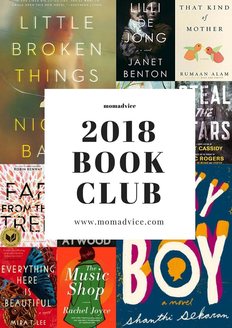 2018 Book Club Selections Reading Lists Pinterest Book