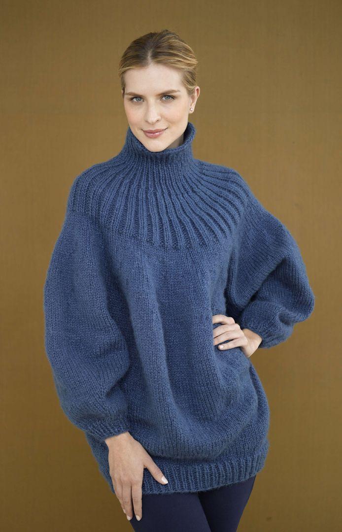 Free Knitting Pattern: Pouf Pullover http://www.lionbrand.com ...
