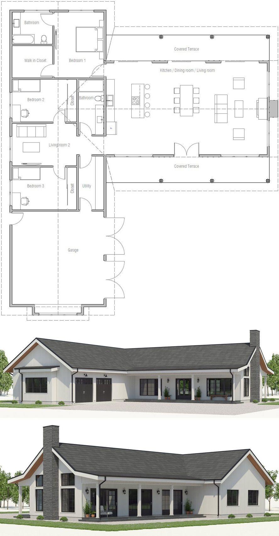 House Plan Ch567 Dream House Plans Barn House Plans House Blueprints