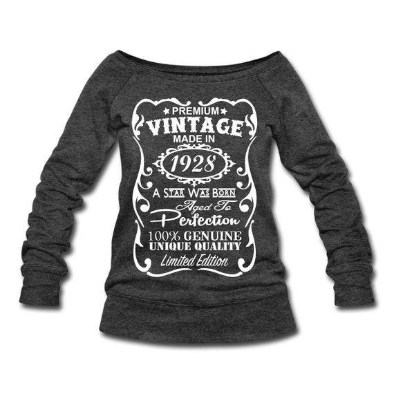90th Birthday Gift Ideas For Women VELVETY PRINT Made In 1928 Pullover