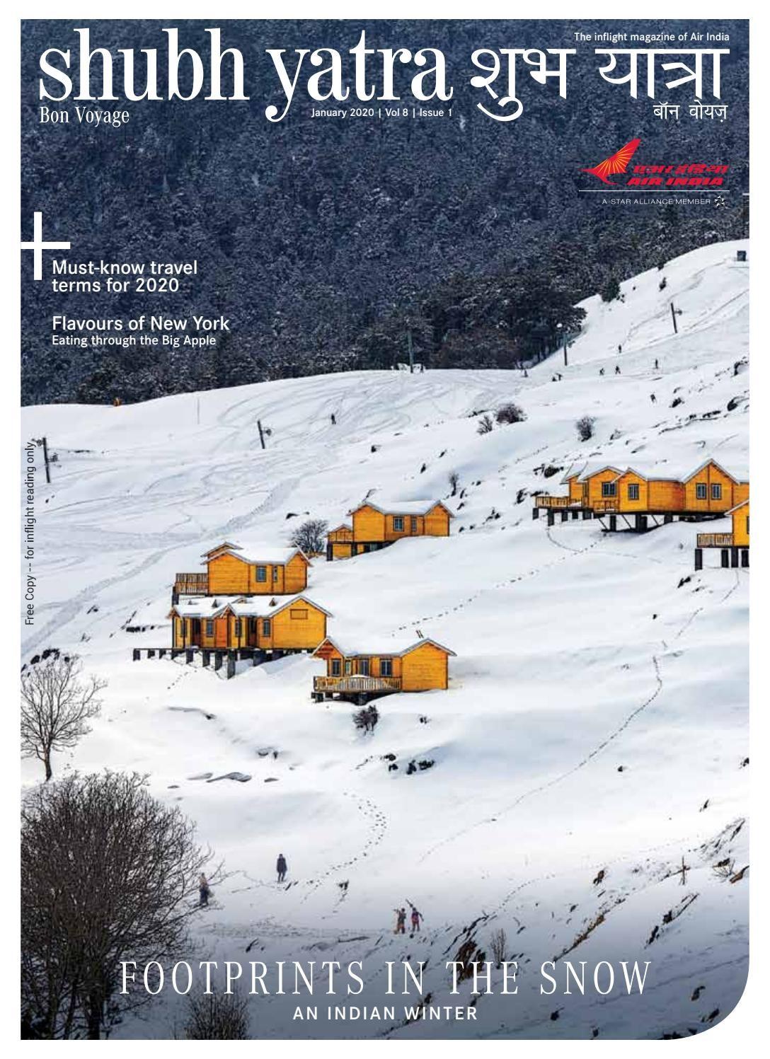 Shubh Yatra Inflight Magazine Air India January 2020 in