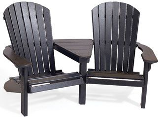 Kloter Farms   Sheds, Gazebos, Garages, Swingsets, Dining, Living, Bedroom  Furniture CT, MA, RI: Leisure Adirondack Settee: Leisure Adirondack Settee