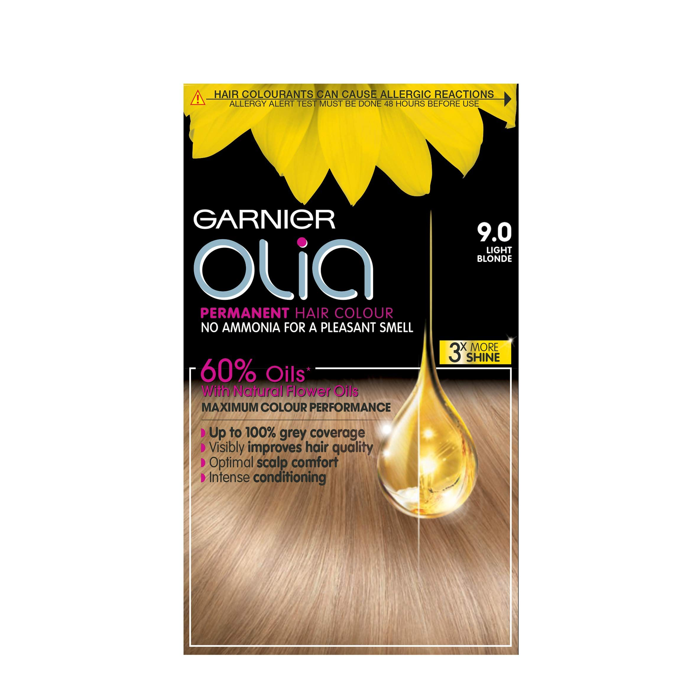 Garnier Olia Permanent Hair Colour 9 0 Light Blonde More Info