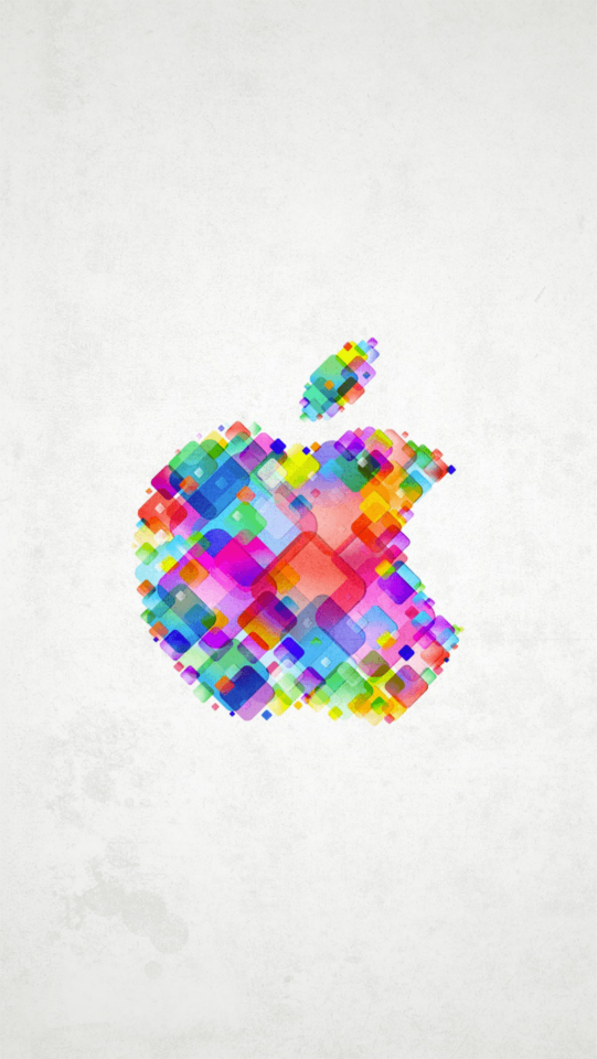Really Colorful Apple Logo For An IPhone 5 Wallpaper